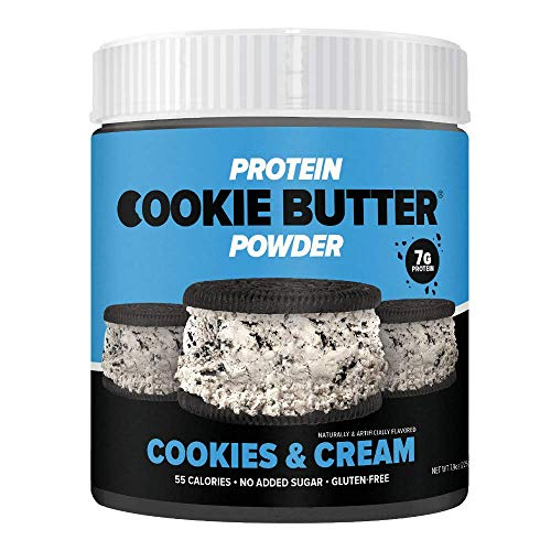 FDL - Keto Protein Powder Cookie Butter - Low Carb Food - Easy to Mix, Bake and Spread - 1g Net Carb - 7.9oz (Cookies & Cream)