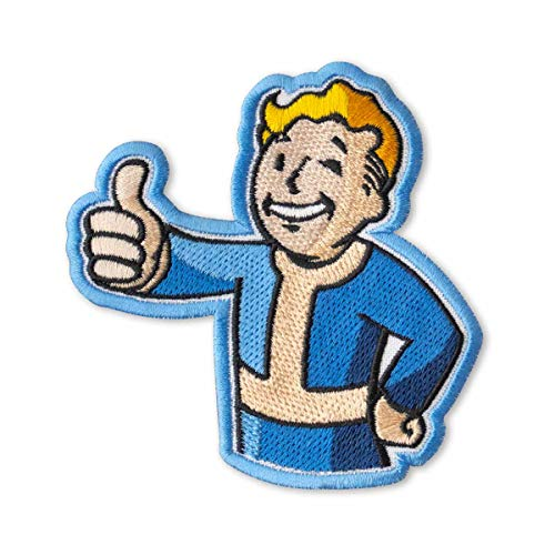 Fallout Vault Boy Embroidered Patch Iron On (3.5' x 3.6')