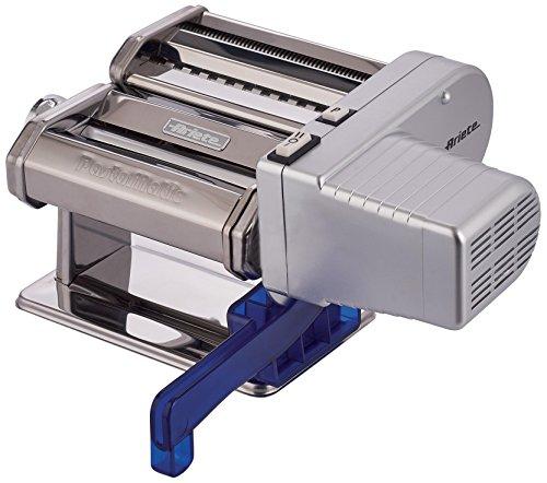 Ariete 1593 PastaMatic - Máquina automática prepara pasta fresca, 70 W, 2 velocidades, función pulse, 10 posiciones para el grosor de la pasta, acero inoxidable