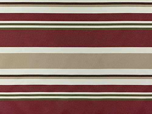 D&D Futon Furniture Outdoor Waterproof Full Size Futon Mattress Cover 6 x 54 x 75, Covering Protector, Stripe Burgundy
