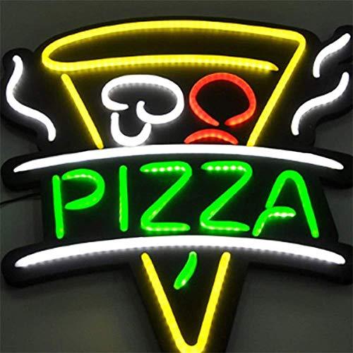 QXTYYGG LED Insegna Pizza Lampadina Luce Neon Catenella Finestra 23.6 * 21.6 Pollice Esposizione Aperto Ultra Luminoso Negozio Bar Club KTV Decorazione della Parete Illuminazione Pizzeria