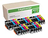 Inkjetcorner Compatible Ink Cartridges Replacement for PGI-250XL CLI-251XL PGI250 CLI251 for use with MX922 MG5620 MG6620 MG6420 iX6820 MG5520 (25 Pack)
