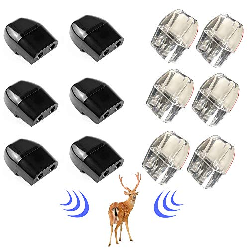 Z8 12PCS Deer Whistles for Car Vehicles Dual Construction Extra Tapes Deer Warning Whistle Devices Deer Horn Repellent Animal Alert Save a Safety for Mini Car Truck Vehicle Motorcycles,Black and White