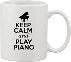 keep calm and play music mug