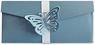 Porta soldi - pocketfold - cerimonie - farfalle - busta (formato 18 x 9 cm) + biglietto d'auguri vuoto all'interno - ideal...