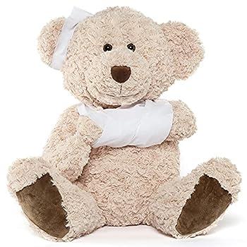 Muiteiur Get Well Soon Teddy Bear Stuffed Animal Big Speedy Recovery Teddy Bear Gifts for Kid Adult After Surgery Soft Bandage Plush Bear 25.6 Inch