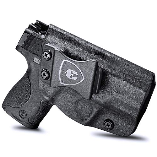 M&P Shield 9mm Holster, IWB KYDEX Holster Fit: S&W M&P Shield M2.0-9/40-3.1' Barrel, Not Fit Light/Laser, Inside Waistband Holster, Posi-Click Audible Retention Lock System, Adj. Cant&Retention, Right