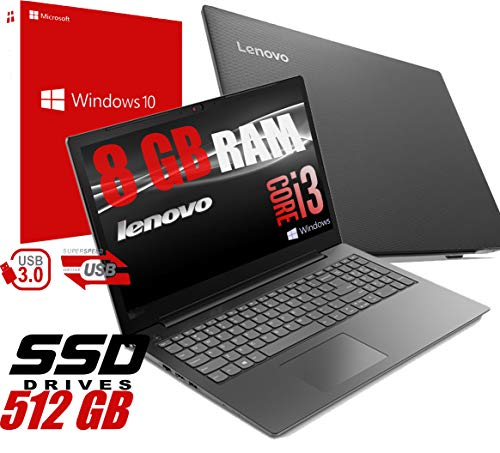 Notebook Lenovo V130 Portatile Display da 15.6' /Cpu Intel core i3-7020U 2,3Ghz /Ram 8Gb DDR4 /HD SSD 512GB /VGA INTEL HD 620 /Hdmi Masterizzatore Wifi Bluetooth/Windows 10 professional + Open Office