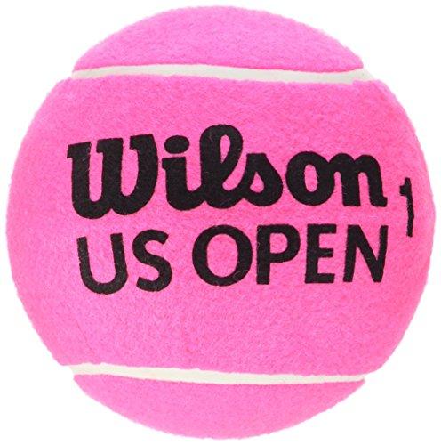 Wilson WRT1415PKXB Pallina da Tennis US Open 5 Mini Jumbo, Ottima come Decorazione e per Autografi, Rosa, 12 cm, Oversize