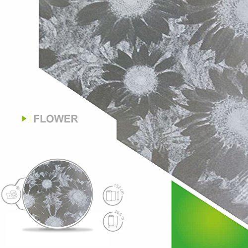 Zonnescherm 6,57 €/m2 raamfolie, zelfklevend, melkglasfolie, bloem, 152 cm breed, folie, raamfolie