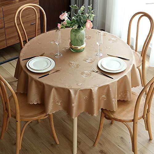 LIUJIU Tischdecke Rechteckige Abwaschbar Polyester Tischtuch Wasserabweisend Geeignet für Home Küche,160cm