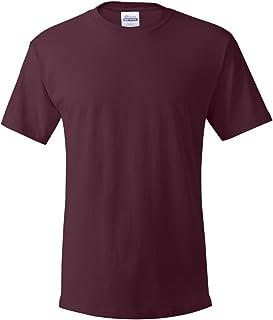 Hanes Heavyweight 100% ComfortSoft Cotton T-Shirt, Maroon, 3XL