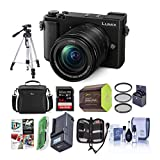 Panasonic Lumix DC-GX9 20.3MP Mirrorless Micro 4/3 Digital Camera with 12-60mm F3.5-5.6 Lens, Black - Bundle with Camera Bag, 64GB SDXC Card, Spare Battery, Tripod, Charger, Software Pack and More