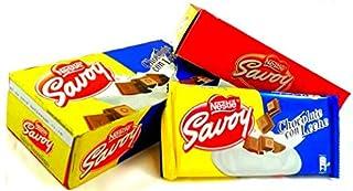 Autentico Chocolate Con Leche Savoy Venezolano para Postres . 1 Box, 5 Bars (130gramos