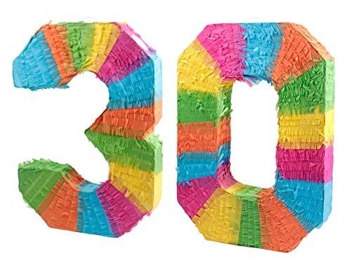Alsino Pinata Geburtstag 30 Schlagpinata Event Zahlen Hochzeit Jubiläum Partydeko Dekoration Geburtstagsdeko, Zahl wählen:30