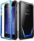 Galaxy J3 2018 Rugged Case, Poetic Guardian Heavy Duty Case with [Built-in-Screen Protector] for Samsung Galaxy J3 2018/J3 Star/J3 Orbit/J3 V 3rd Gen/J3 Achieve/Express Prime 3/Amp Prime 3 - Blue
