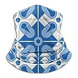 WEIPING Patrón de Azulejos Azules 3 Bufanda mascarilla pañuelos pasamontañas Que Cubren la Cara Pola...