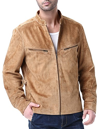 Airborne Leathers Men's Big-Tall Genuine Leather Jacket 3XLT Tobacco