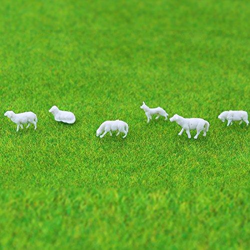 1 : 150 Scale N Gauge Couleur Painted Plastique miniature modèle Cheval animaux de la ferme (100)