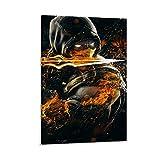 GIUU Mortal Kombat Scorpion Cool Poster dekorative Malerei