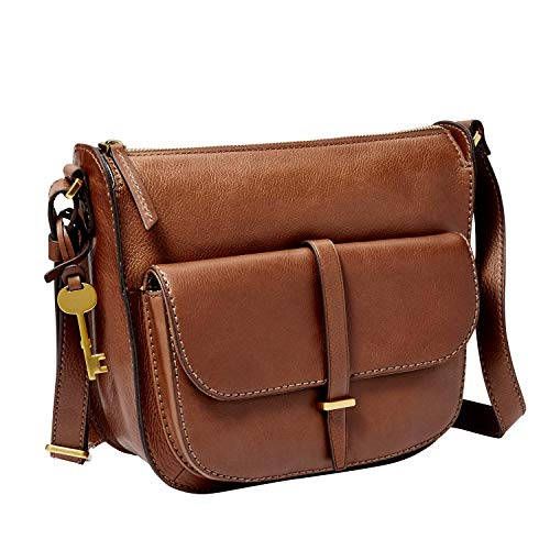 Fossil Women's Ryder Leather Crossbody Handbag, Brown
