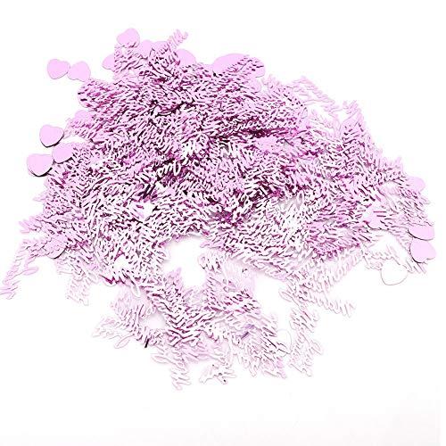 Wifehelper - Confeti de Boda romántico, Ligero, Hermoso y Hermoso corazón para decoración de Mesa de Escritorio