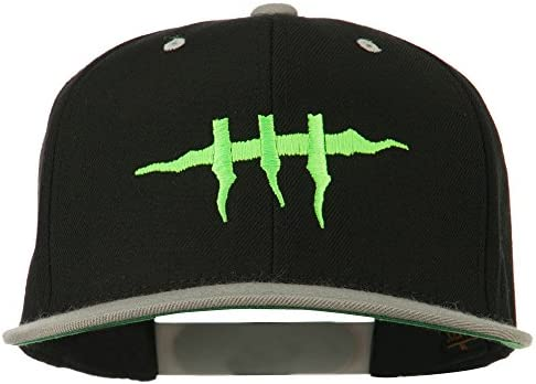 e4Hats com Halloween Monster Stitches Embroidered Snapback Cap Black Silver OSFM product image