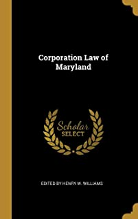 Corporation Law of Maryland