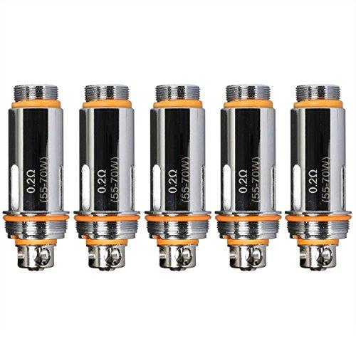 Aspire Cleito用 サブΩコイル 5個セット Replacement 0.2/0.4ohm Coil 電子タバコ VAPE (0.4Ω)