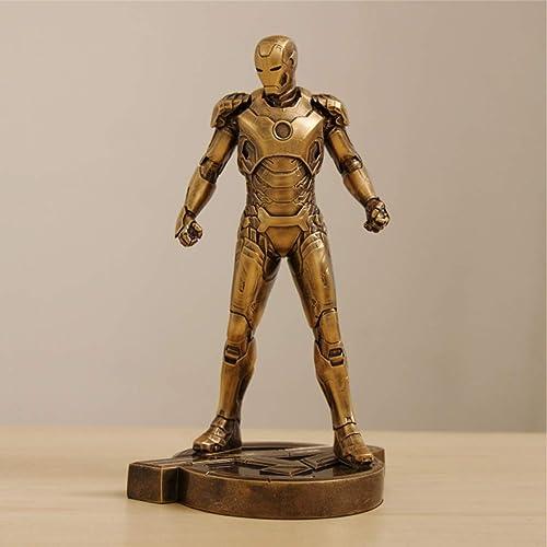 HEAGREN Iron Man Qiu Corps Complet Imitation Cuivre MK43 Modèle Statue Décoration Anniversaire Vacances Nouvel an Cadeau Jouet