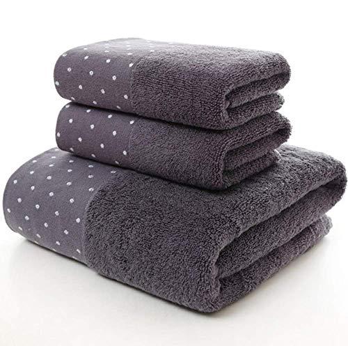 GLYHVXZ Toalla de baño para Adultos de algodón Toalla de Tres Juegos,Toalla de baño Grande de absorción de Agua,Toalla de Secado rápido,400 g,Traje de Tres Piezas (Toalla de baño de 1*,2*Toallas),A