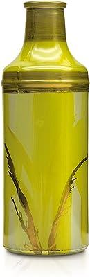 Angela Neue Wiener Werkstätte Vase en Verre Peint à la Main - Couleur : Jaune Citron - 7 cm