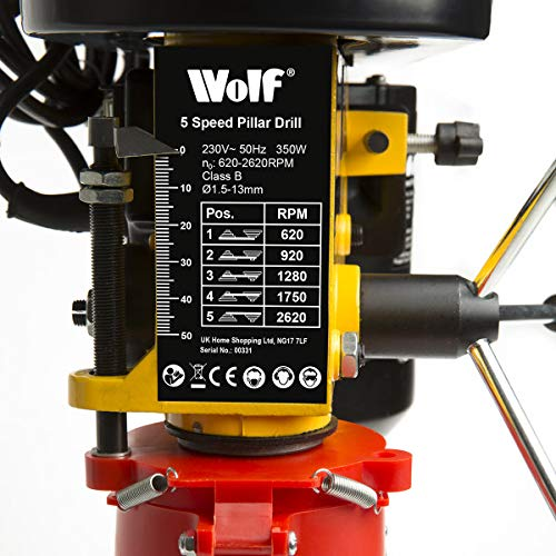 Wolf 5 Speed 13mm Pillar Drill be tested