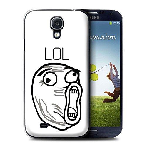 Stuff4 Hülle/Case für Samsung Galaxy S4/SIV/LOL Gesicht Muster/Lustiges Internet Memes Kollektion
