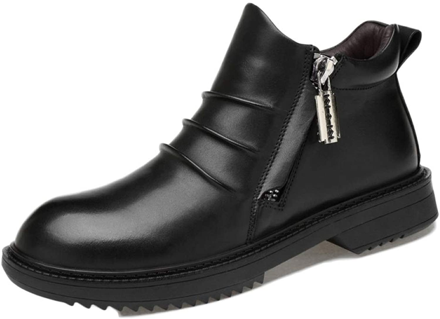 Men's Boots Black Leather Oxblood Safety Brogue Classic High Help Martin Boots