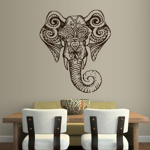 Ganesha Z1960 - Adhesivo decorativo para pared, diseño de elefante