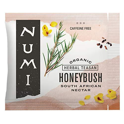 Numi Organic Tea Honeybush, 100 Count Box of Tea Bags, Herbal Teasan (Packaging May Vary)