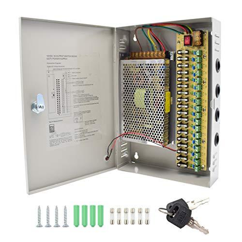 18 Kanal Netzteil Kasten für CCTV Kamera Videoüberwachung Leistungsnetzteil 12V DC20A 240W