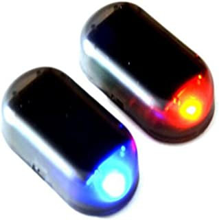 1stモール 多機能 セキュリティ 車 防犯 ライト 自動車 盗難防止 点滅 ダミー LED ソーラー 充電 太陽光 色ランダム発送 ST-A7FB