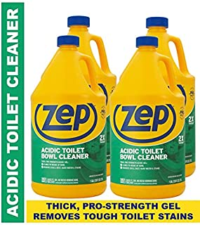 Zep Acidic Toilet Bowl Cleaner 128oz R43710 (Case of 4) - 2x thicker than before! Professional Strength, Thick Gel Clings to dirt and leaves toilets clean