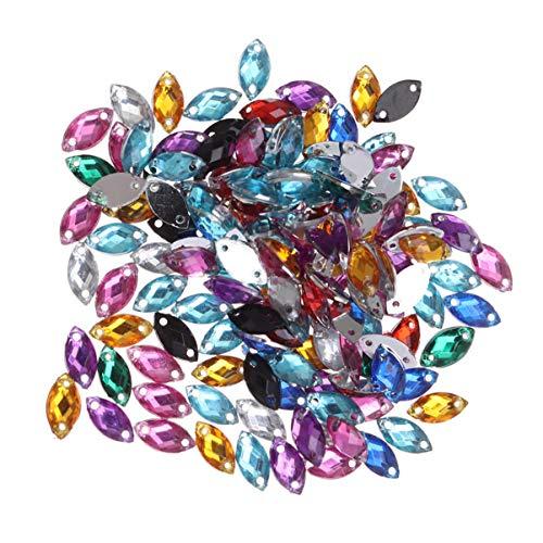 Healifty Flatback di gemme di cristallo 150 pezzi cucire su strass per artigianato fai da te