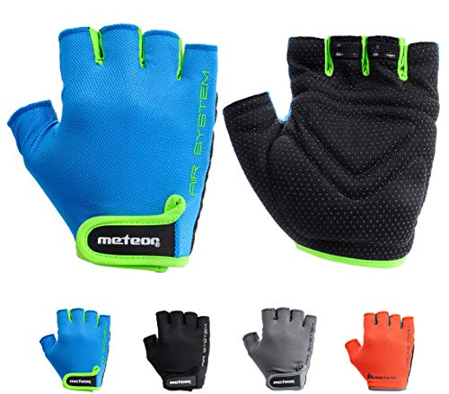 meteor Cycling Gloves radhandschuhe MTB Handschuhe Herren Gel fahrradhandschuhe Mountainbike Radsport Damen Radsport-Handschuhe Downhill Fahrrad Handschuhe Kinder (XL, Flow 12)