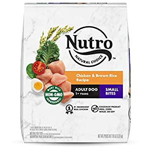 NUTRO NATURAL CHOICE Small Bites Adult Dry Dog Food, Chicken & Brown Rice Recipe Dog Kibble, 30 lb. Bag
