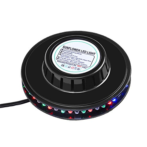RGB Led Party Light Auto Rotating Sunflower Stage Lighting For KTV Bar Wedding DJ Show Sound Activated