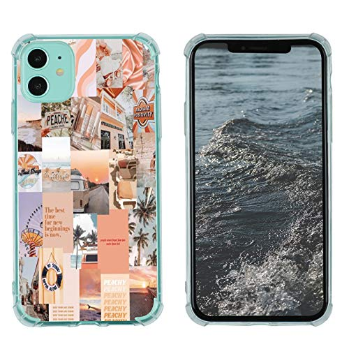 Case for iPhone 11, Vintage Vibe Collage Aesthetic Retro The Best Time Slim Case TPU Bumper Shockproof Protective Cover Case for Women Girls Support Wireless Charging