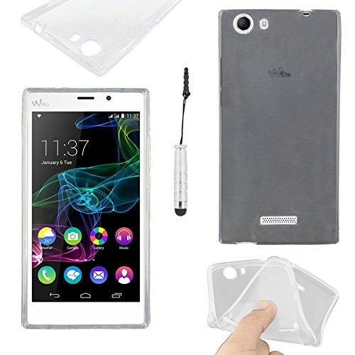 ebestStar - kompatibel mit Wiko Ridge Fab 4G Hülle Handyhülle [Ultra Dünn], Premium Durchsichtige Klar TPU Schutzhülle, Soft Flex Silikon + Mini Stift, Transparent [Phone: 156 x 78.2 x 8.6mm, 5.5'']