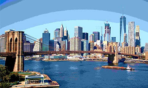 mmhhxx Brooklyn Bridge Puzzle Adult Adult Puzzle 1000 Piezas Brooklyn Bridge Puzzle Adult Adult Puzzle 75x50cm -999