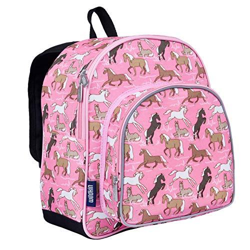 Wildkin Toddler Pink Horses Backpack, Multi-Colour