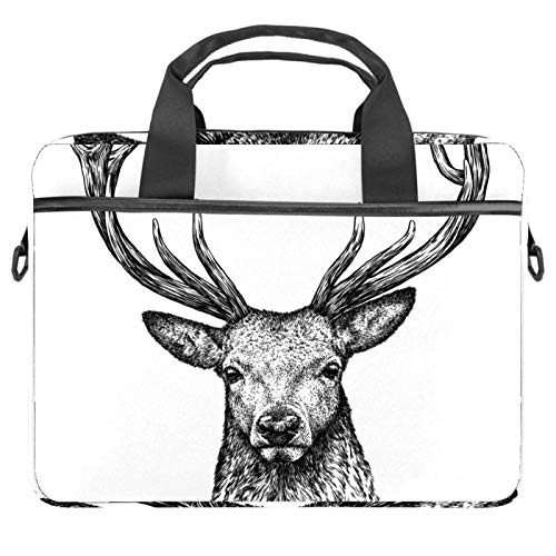 Cool deer head Laptop Bag 13.4 14.5 inch Laptop Sleeve Case with Shoulder Straps & Handle/Notebook Computer Case Briefcase Compatible with All computers