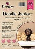 Designer Dog Foods Grain Free Complete Dry Dog Food for Labradoodle & Cockapoo Puppy - Salmon with Sweet Potato & Vegetables (Doodle Junior+) 12KG